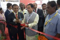 Prahlad Joshi, Union minister for Coal, Mines and Parliamentary Affairs Inaugurating the NLC India Limited , stall in international mining, equipment, minerals & Metals Exibition at Eco Park,  Newton , Kolkata