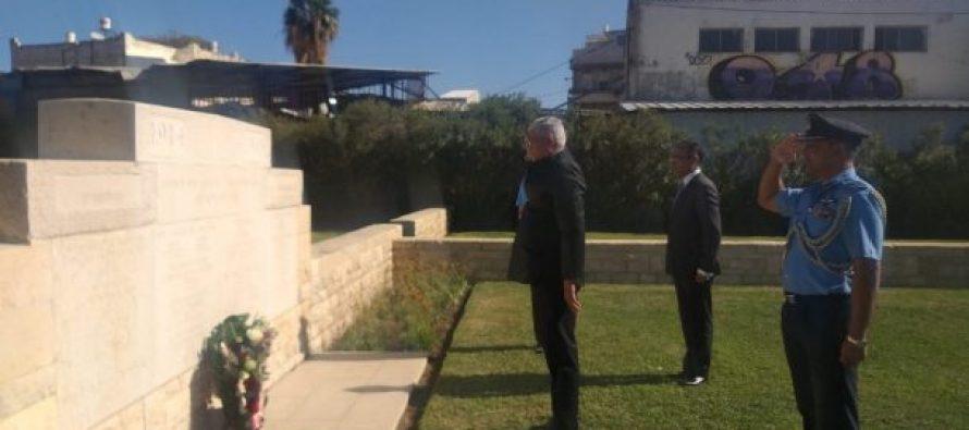 हाइफा युद्ध के शहीदों को जलशक्ति मंत्री गजेंद्र सिंह शेखावत ने दी श्रद्धांजलि