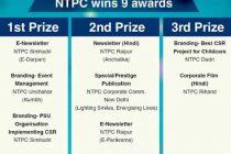 Nine awards for NTPC at PRSI-2019