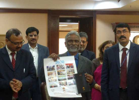 Dr. M. Ravi Kanth, CMD HUDCO released HUDCO calendar and diary for the year 2020, at a function held to mark the 63rd death anniversary of Babasaheb Dr. B.R. Ambedkar, Architect of our Constitution.
