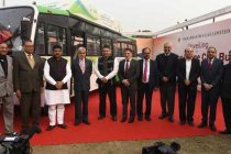 Dharmendra Pradhan unveils India's first CNG bus which can run 1000 kms in one fill