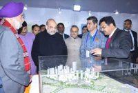 HOME MINISTER LAID THE FOUNDATION STONE OF EAST DELHI HUB INTEGRATED DEVELOPMENT PROJECT, KARKARDOOMA, DELHI