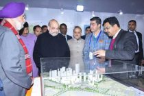 HOME MINISTER LAID THE FOUNDATION STONE OF EAST DELHI HUB INTEGRATED DEVELOPMENT PROJECT, KARKARDOOMA, DELHI