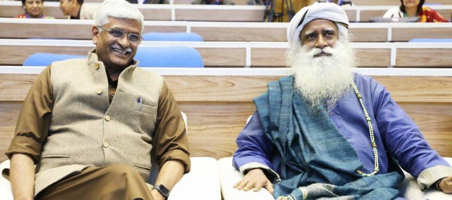 Gajendra Singh Shekhawat and Sadhguru advocate people's participation in Jal Shakti Abhiyan