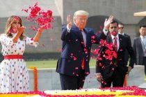 Trump pays homage to Gandhi at Raj Ghat