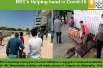 REC Helping hand for labour engaged in Construction of REC Office building, Gurugram due to outbreak of pandemic CoronaVirus COVID-19