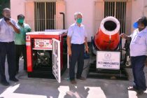NLCIL DONATE 'MISTER' – AN EFFECTIVE DISINFECTANT UNIT TO CUDDALORE