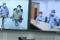 CMD NLCIL with Directors interacts with Families of injured through VC