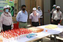 NHPC distributes personal hygiene kits during Swachhata Pakhwada 2020