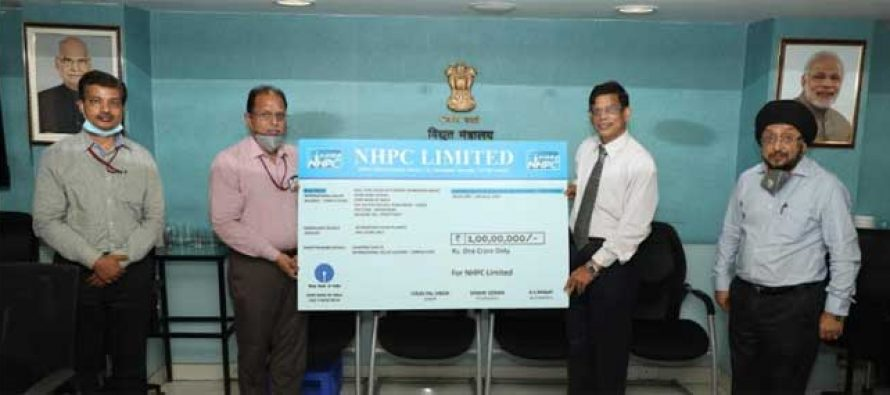 NHPC contributes Rs. 1 Crore to International Solar Alliance Corpus Fund