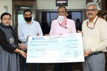 NHPC provides financial assistance of Rs. 2 lakh to the  Red Cross Society, Faridabad for COVID-19