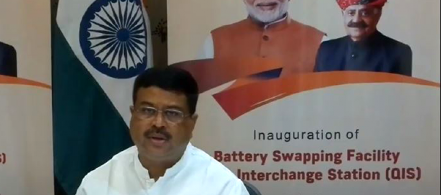 IOC Battery Swapping Facility inaugurated at Chandigarh