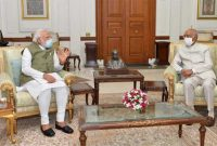 The Prime Minister of India, Narendra Modi called on the President of India, Ram Nath Kovind