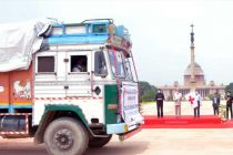 President flags off relief material for flood affected states
