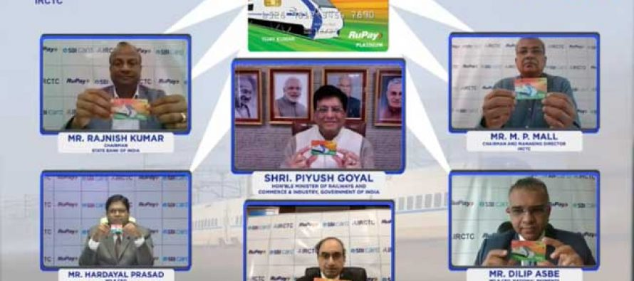 Goyal launches SBI-IRCTC credit card for rail users