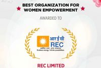 REC Limited recognized as the 'Best Organization for Women Empowerment'