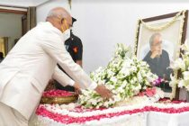 The President of India, Ram Nath Kovind, paid his respects to the late Pranab Mukherjee, former President of India
