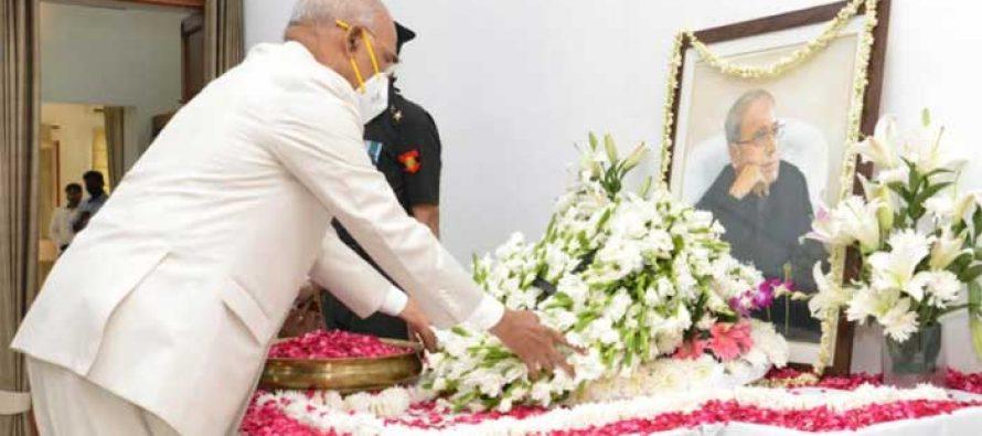 Kovind, Modi pay floral tributes to Ex-Prez Pranab Mukherjee