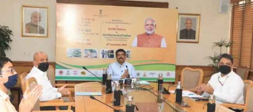 Petroleum Minister inaugurates 56 CNG stations across 13 States and one UT