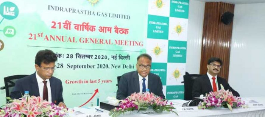 RECORD NUMBER OF 2.72 LAKH NEW PNG CONNECTIONS PROVIDED BY IGL IN 2019-20