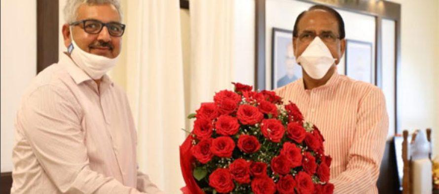 NHDC Chairman SA. K. Singh meets CM Shivraj Singh Chauhan