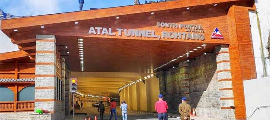 Modi inaugurates strategic Atal highway tunnel in Himalayas