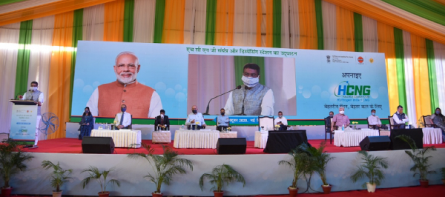 Petroleum Minister inaugurates H-CNG Plant and Launches trials in Delhi