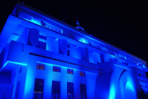Guwahati's key installations turn blue on World Children's Day