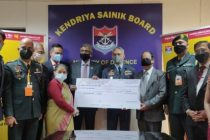 Punjab National Bank contributes in the Armed Forces Flag Day fund
