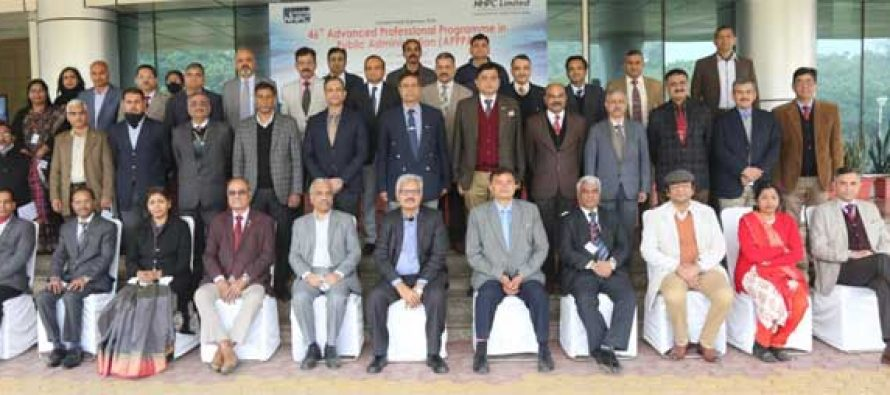 """Lecture-cum-Exposure visit to NHPC held under """"46th Advanced Professional Programme in Public Administration"""""""
