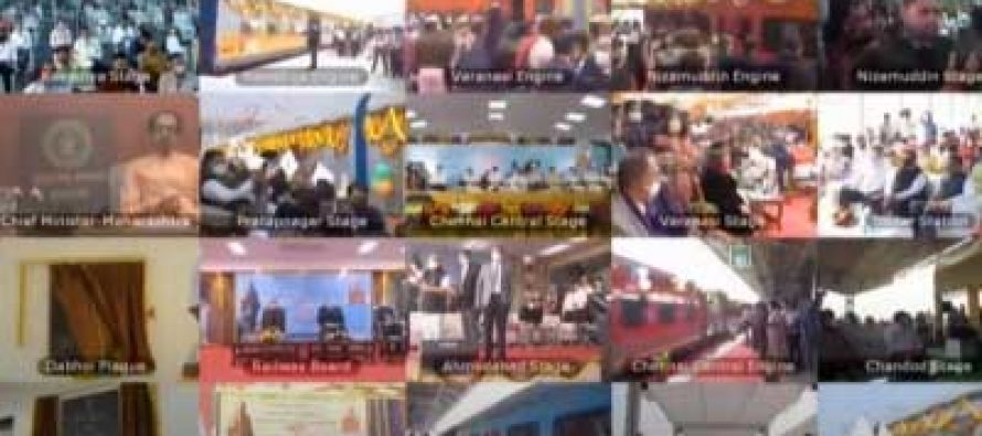 PM flags off 8 trains to Statue of Unity in Gujarat