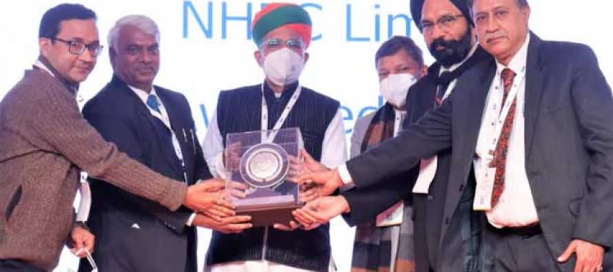 NHPC awarded ICAI award for Excellence in Financial Reporting