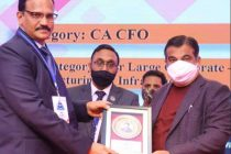 "HPCL's Director Finance conferred with prestigious CA CFO – Large Corporate : Manufacturing & Infrastructure"" award"