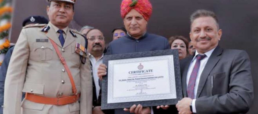 "PFC receives Certificate of Appreciation for ""Best CSR practices & Covid-19 Relief Work"" from Government of Haryana"