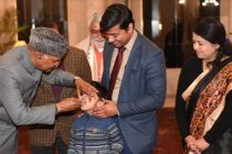 The President of India, Ram Nath Kovind launches the first round of Pulse Polio Programme 2021