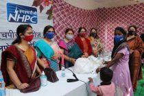 NHPC Ladies Welfare Association distributes dry ration