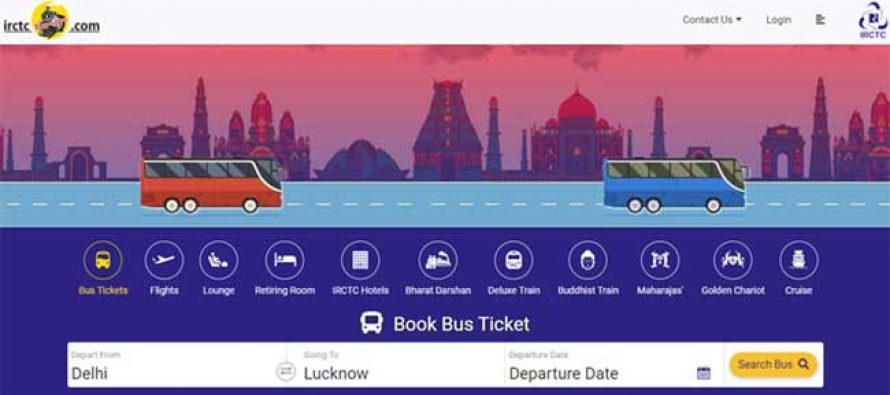 """NOW BOOK BUSES ALSO WITH IRCTC"""
