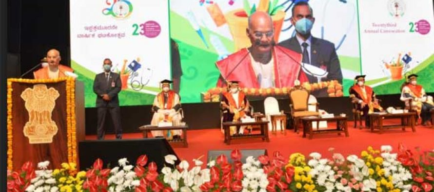 The Covid-19 pandemic has taught the world that one cannot be safe if others are at risk: PRESIDENT Kovind