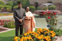 "The President of India, Ram Nath Kovind, along with the First Lady Savita Kovind opening the annual ""Udyanotsav"" of Rashtrapati Bhavan"