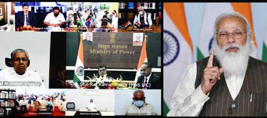 PM Narendra Modi inaugurates POWERGRID's 320 kV 2000 MW Pugalur – Thrissur HVDC project