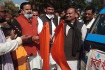 वर्षा बूंदों को खेत में रोकने के लिए उत्तर प्रदेश के जल शक्ति मंत्री डॉ महेंद्र सिंह ने देश में पहली सर्वोदय मेड़बंदी यज्ञ यात्रा को हरी झंडी दिखाई