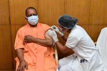 Yogi gets 1st dose of Covid vax
