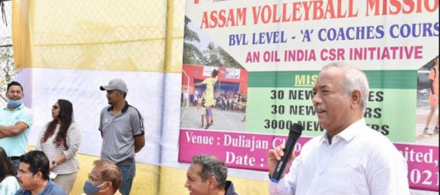 OIL under its CSR supports Assam Volleyball Mission