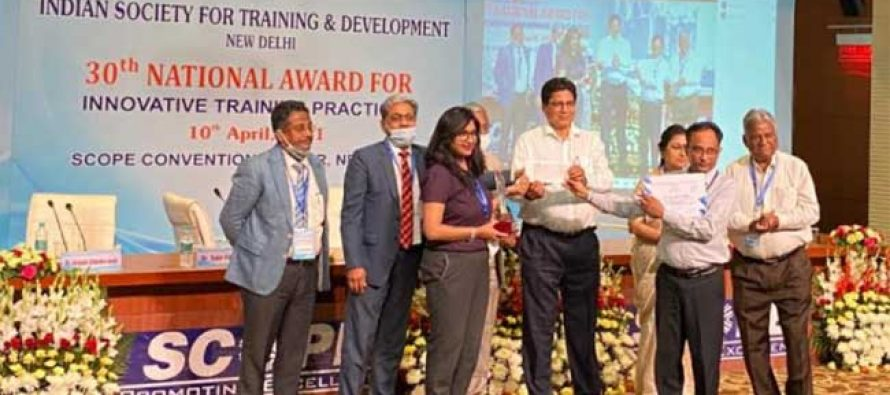 NTPC honoured with prestigious ISTD award for Innovative Training Practices