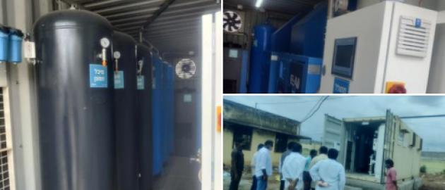 Oxgyen generator given by Israel up and running at Kolar KGF Hospital, Karnataka