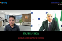 Italian Ambassador to India, Vincenzo de Luca speaking on Italy support to India in covid crisis