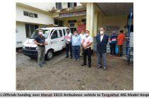 Oil India Limited handed over Ambulance under CSR toTengakhat MG Model Hospital