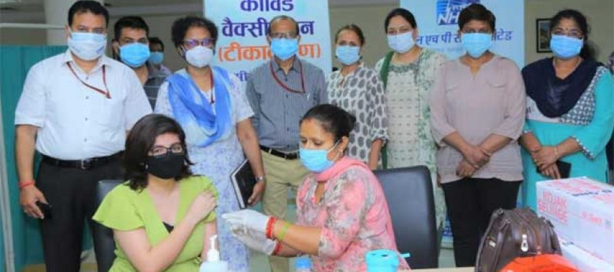 NHPC conducts Covid vaccination camp at NHPC Corporate Office