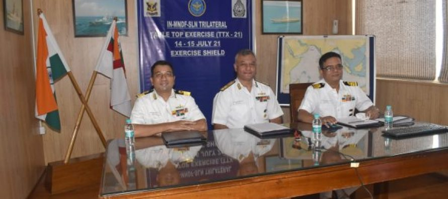 Trilateral Table Top Exercise-2021 Conducted between India-Maldives-Sri Lanka