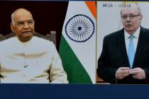H.E. Mr. Alberto Antonio Guani Amarilla, Ambassador of Uruguay presenting credentials to President of India